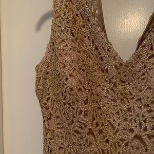 Marina gold dress